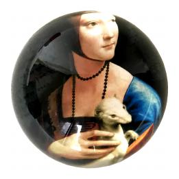 Paperweight - Lady with an Ermine (Da Vinci)