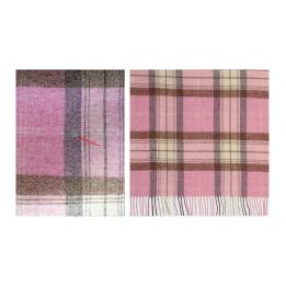 Skye Check Pink Throw (S&S)