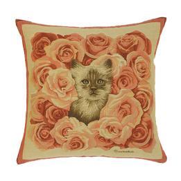 Rose Kitten - Clearance Cushion