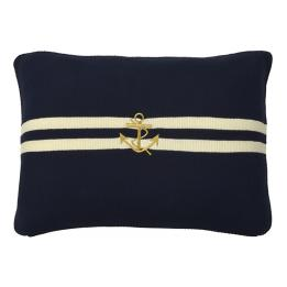 Yacht Club Knit - Gold Anchor, Rectangle