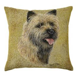 Cairn Terrier Dog Portrait Cushion